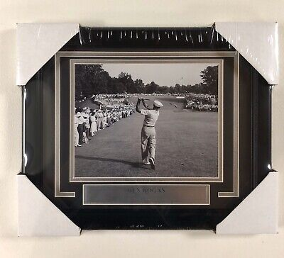 Ben Hogan Framed 8x10 With Plaque PGA Golf The One Iron