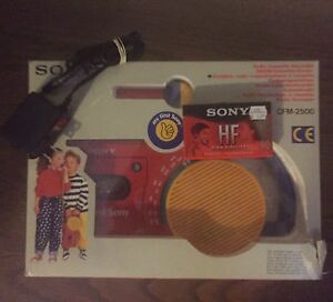 Vintage My First Sony Cassette Player with Radio