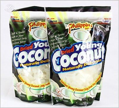 2x Philippine Dried Young Coconut Snacks 18 Oz Resealable New Free Shipping