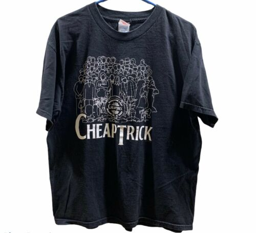 Cheap Trick Hollywood Bowl Concert Tee 2007 Double-Sided T-shirt Size Large
