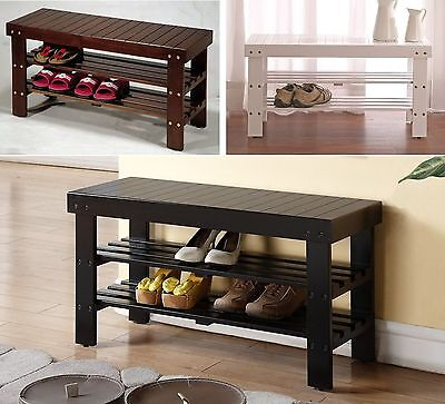 Legacy Decor Solid Wood Shoe Bench with ...