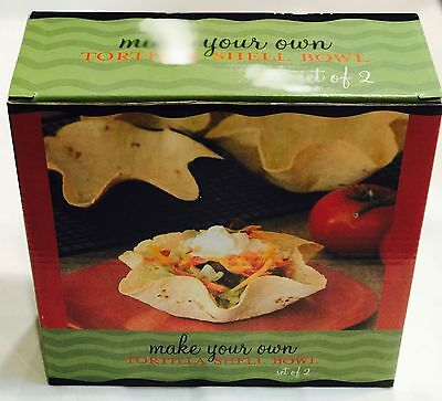 Tortilla Shell Bowl Maker Mini Nonstick 7inch New Set Of 2