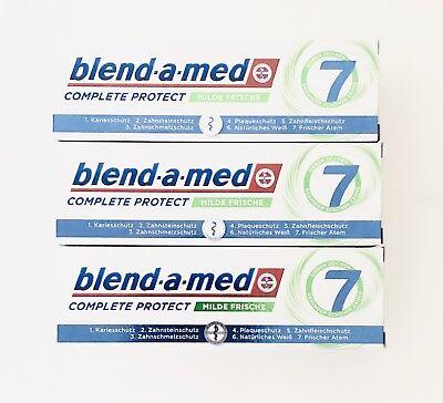 3x 75ml Blend-a-med Complete Protect 7 Milde Frische Zahnpasta NEU