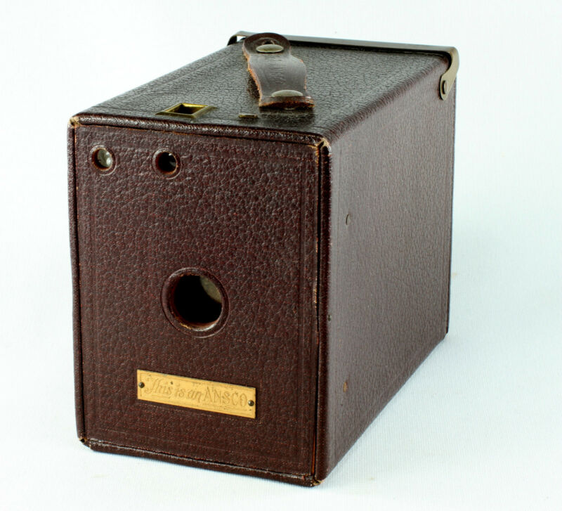 Ansco No. 2 Special Box Camera for 120 Film - maroon
