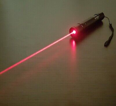 Powerful Red Laser Pointer Pen 1mw Focusable Beam 650nm Wicked High Power Lazer