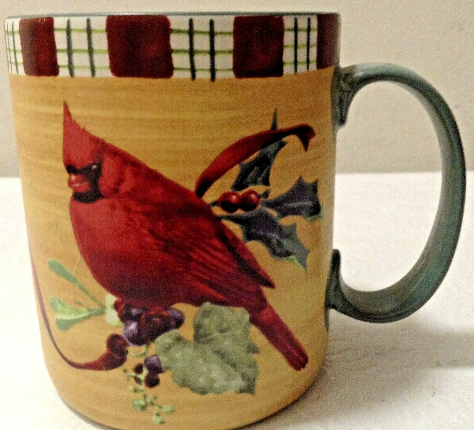 LENOX Winter Greetings Cardinal Freezer To Oven To Table Coffee Mug14 Oz - $14.95