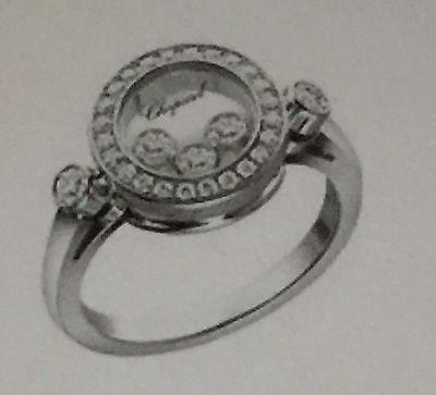 MSRP $5000 Chopard Happy Diamonds 18k Gold . 39 TCW Floating Diamonds New in Box