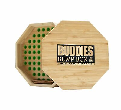 Buddies Bump Box Filler 76 King Cones Wooden Filling Machine Loader Raw Jware... for sale  Shipping to Nigeria