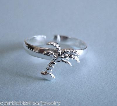 T005 Sterling Silver  Hawaiian Palm Tree Toe Ring