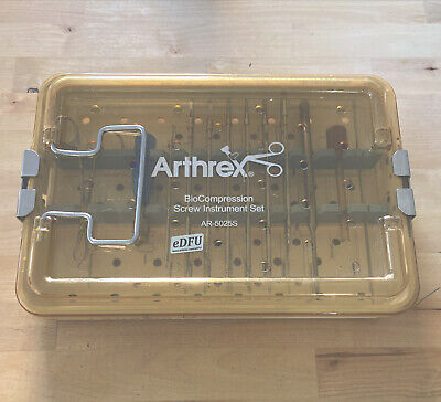 Pre Owned Arthrex Ar-5025s Bio Compression Cannulated Instrument Set