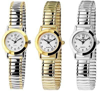 Classique Damenuhr mit Metall-Zugband Analog Damen-Uhr Klassische Armbanduhr - Damen Metall