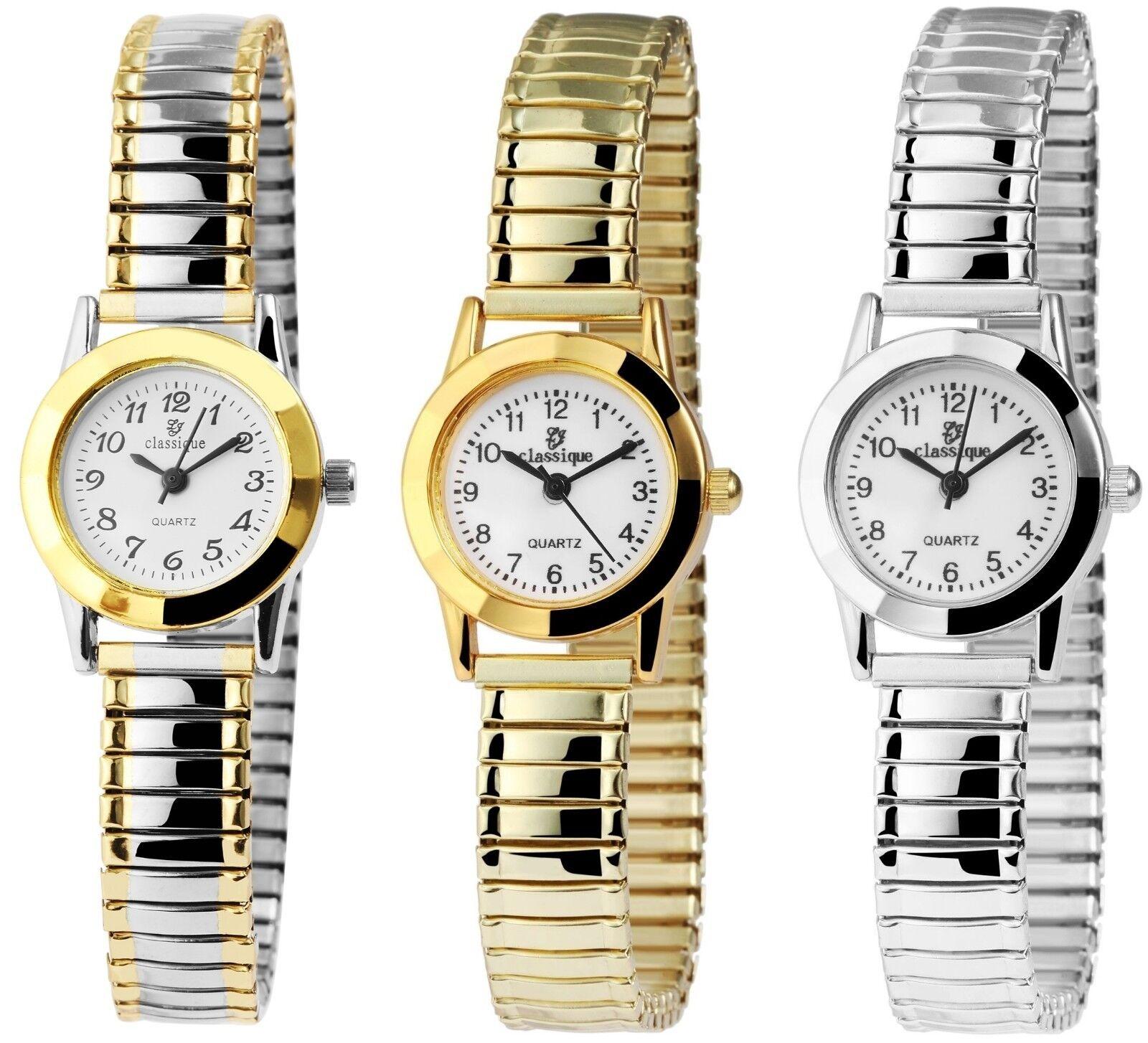 Classique Damenuhr mit Metall-Zugband Analog Damen-Uhr Klassische Armbanduhr