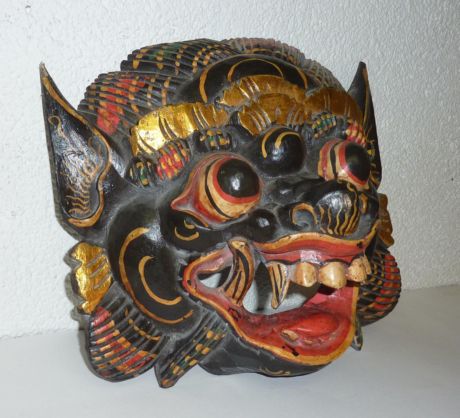 Asiatika Maske Fabelwesen große Holzmaske Ritualmaske Dämon Dämonen Maske