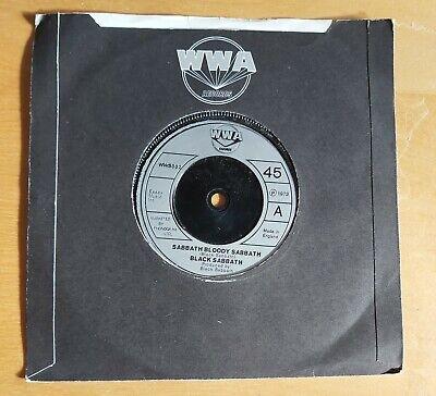 "BLACK SABBATH-SABBATH BLOODY SABBATH/CHANGES-UK 7"" ON VERTIGO RECORDS-1973"
