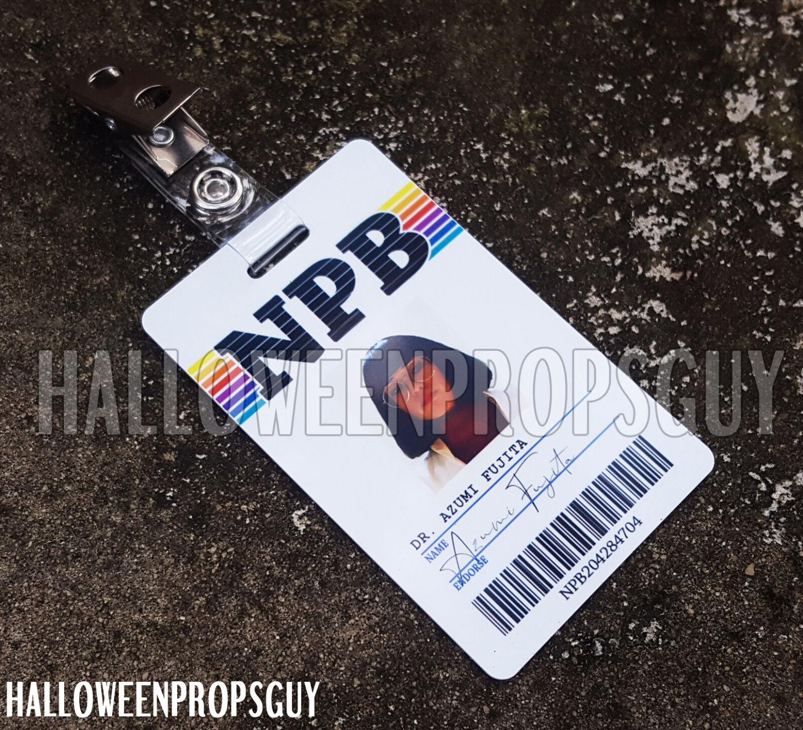 MANIAC Style NPB ID Card Replica w/ Clip - Dr. Fujita, Dr. Mantleray or ULP #