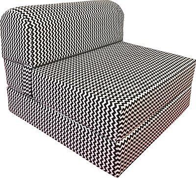 ZigZag 6 x 32 x 70 Sleeper Chair Folding Foam Bed, Studio Guest Beds Chair Sleeper Foam Furniture