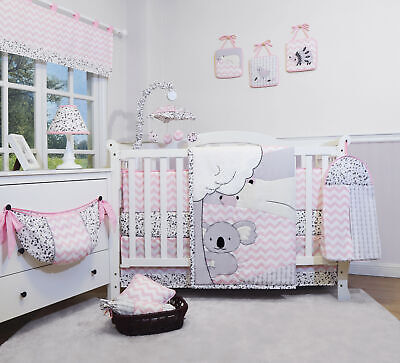 13PCS Cute Bears Baby Nursery Crib Bedding Sets  Holiday Special