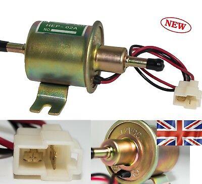 12V Low Pressure Universal Electric Fuel Pump Inline Petrol Gas Diesel HEP 02A