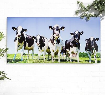 Cows Art Garden Canvas Cow Print Outdoor Wall Art Indoor Cow Bathroom Art Print
