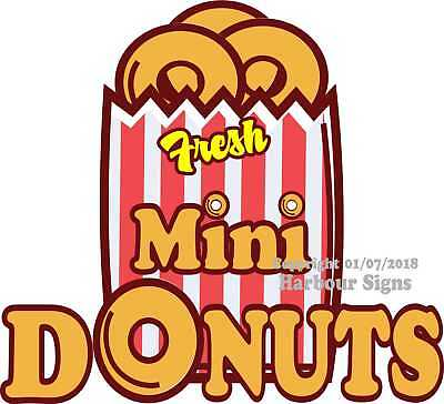 Fresh Mini Donuts Decal Choose Your Size Food Truck Concession Sticker