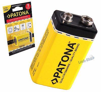 Batteria Patona 1200 mAh 6LR61 ER9V Litio 9V Per Rilevatori di Fumo dura 10 Anni