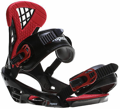 Sapient Wisdom Snowboard Bindings Black/Red Mens Sz M/L (8-12)
