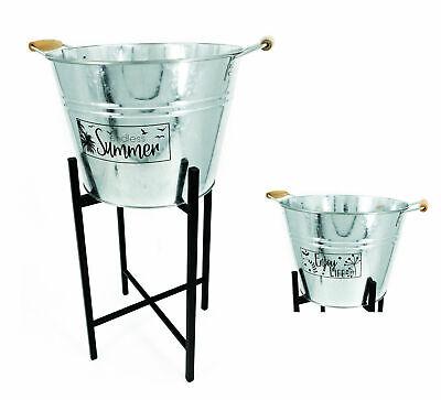Zink Eimer auf Ständer 15 Liter - Champagner Schale Kühler Sektkühler Eiskübel