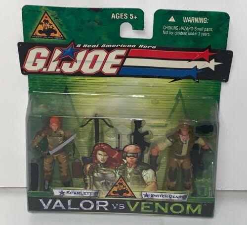 GI Joe Valor vs Venom Desert Patrol Squad SCARLETT & SWITCH GEARS 2004 RARE