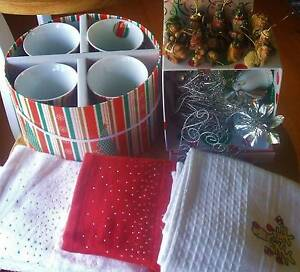 Christmas mugs/mini nativity/hanging decorations/hand towels. NEW Vermont Whitehorse Area Preview