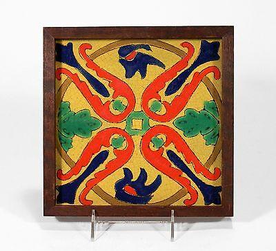 - California art pottery 8x8 tile D&M Tudor Hispano Moresque moorish faience