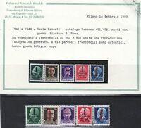 C15 - R.s.i. 1944 -.n.491 A 495 Fascetti. Tiratura Roma - Palazzoli Edmondo Rina -  - ebay.it