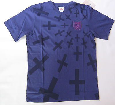 ENGLAND Home Football T- Shirt Top Wisteria Graphic Size Med Large XXL New Tags