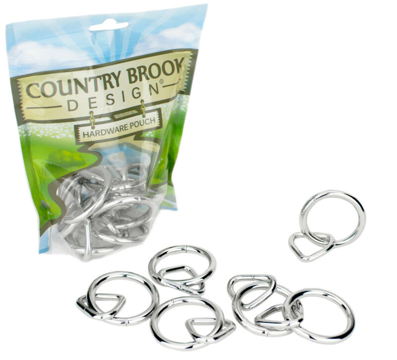 3 - Country Brook Design® 1 1/2in Heavy Welded O-Ring with 1 Inch Triangle Ring