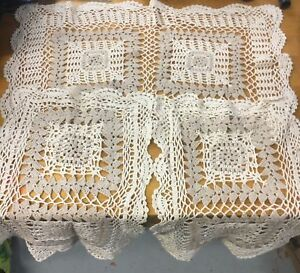 Hand made crochet table cloth set-3 pieces