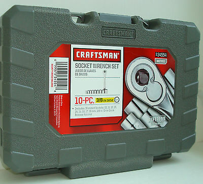 CRAFTSMAN 10 pc. 6 pt. 3/8 in. Metric Socket Wrench Set w/ Case  NEW!  #34554