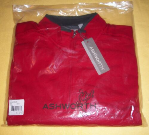 Ashworth TaylorMade GOLF PULLOVER - 1/4 Zip LS - 2XL Carmine Red - NEW MSRP $65
