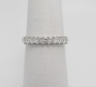 Zales 1/2CT Princess Cut Diamond Anniversary Wedding Band Ring 14K White Gold