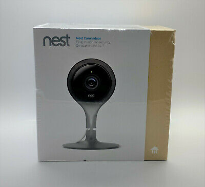 Google - Nest Cam Indoor Security Camera NC1102ES - Black