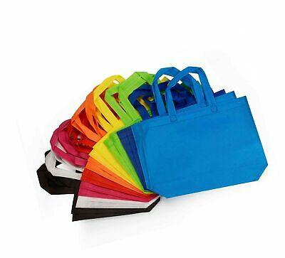 10 x13 Inch 36 Pcs Non Woven Party Gift Favor Bag with Handles Party Tote Bags 9 Colors