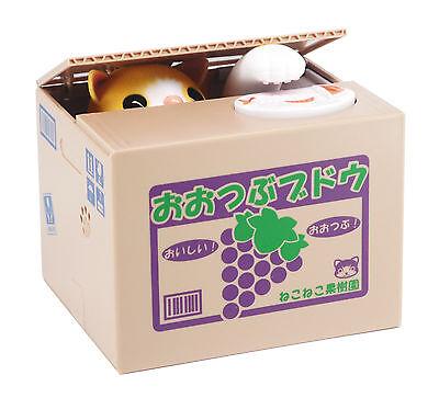 Itazura Coin Bank Cat Kitty Stealing Money Piggy Bank - Chatora