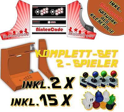 Arcade Bartop Mame Videospielautomat Bausatz DIY Kit - 2 Player & Designfolien