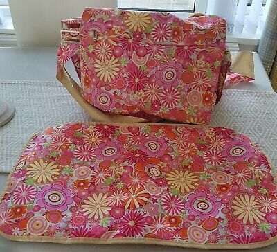 JU-JU-BE Pink 'Zany Zinnias' - Be All Collection Diaper Baby Changing Bag