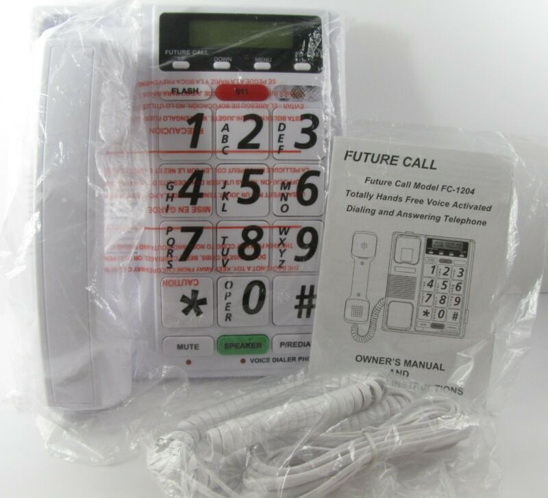 Future Call Voice Dialer Home Phone Hands Free Voice Activated Answering FC-1204