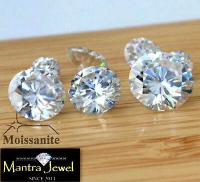 Loose Moissanite Stone G-I Color Round Brilliant Cut Lab Created Diamond VVS1