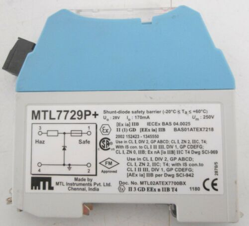 MTL Instruments MTL7729P+ Shunt-Diode Safety Barrier