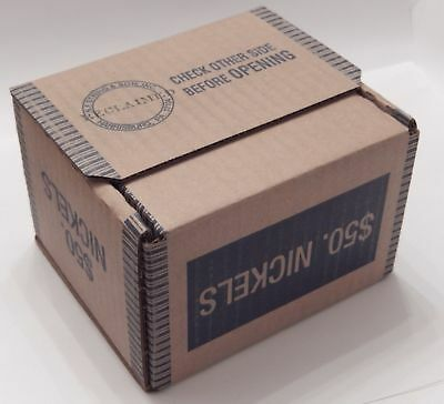 Buffalo & V Liberty Nickel Roll Lot SEALED Box $50 25 Rolls Mixed US Nickels
