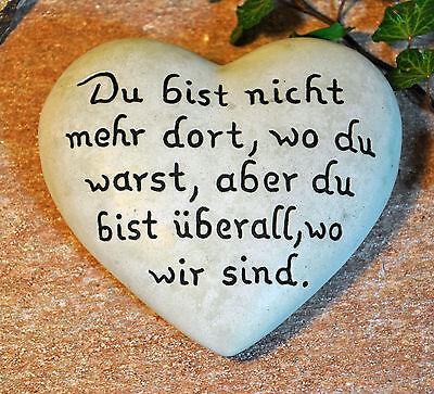 Du bist nicht mehr…   Herz mit Inschrift 16,5x15 cm   Grabschmuck Grabstein Grab