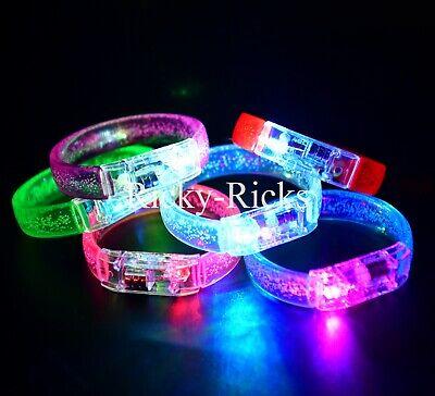 Light Up Rave Toys (12 Flashing Bracelets Light Up Wristbands LED Glow Party Bands Favors Toys)