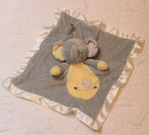Douglas Baby Elephant LOVEY SECURITY BLANKET gray - satin binding