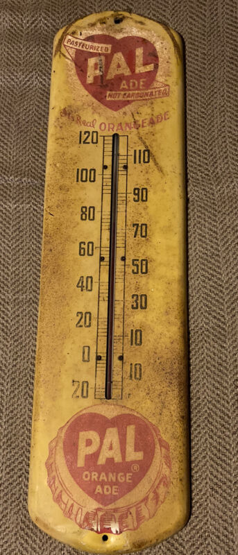 """""""WOW Vintage Old Pal Orange Aid Thermometer"""""""